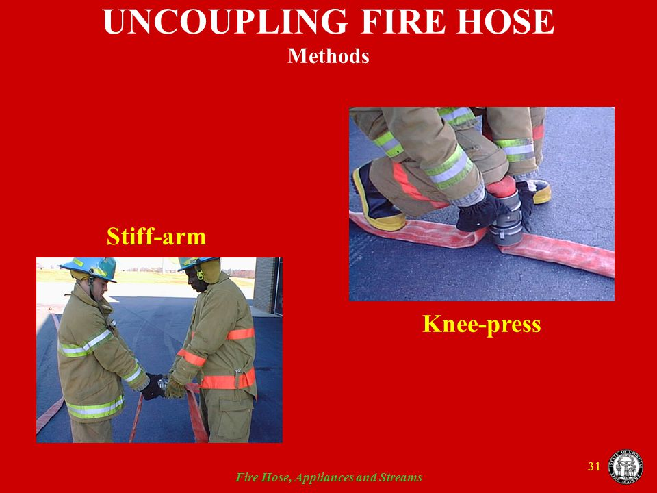 UNCOUPLING FIRE HOSE Methods