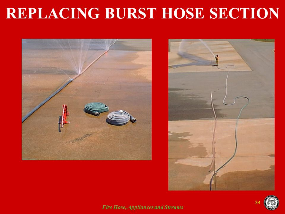 REPLACING BURST HOSE SECTION
