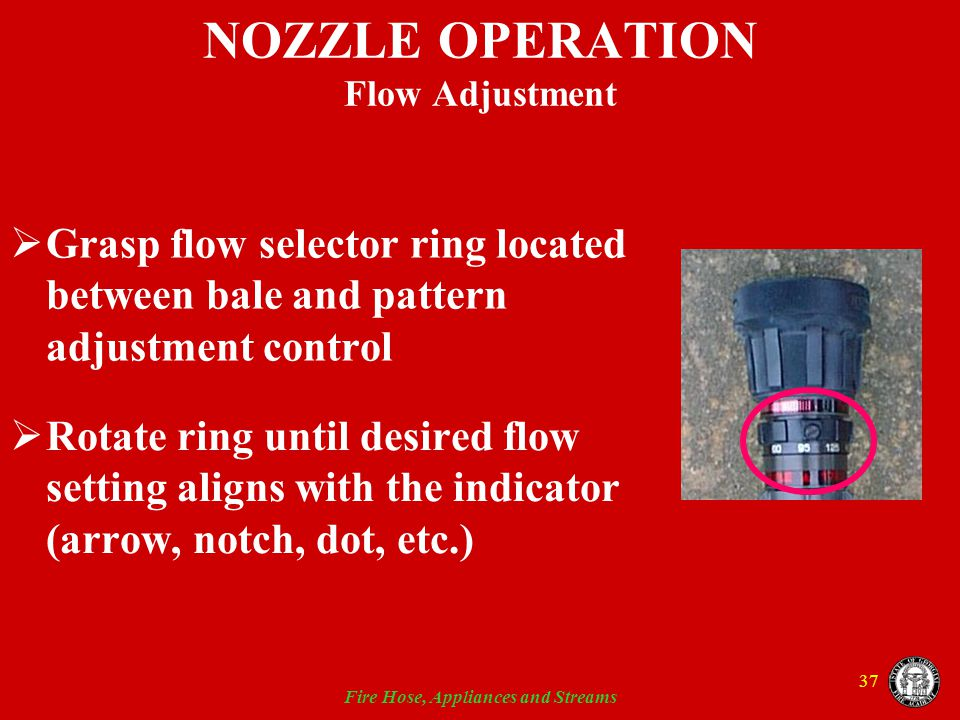 NOZZLE OPERATION Flow Adjustment