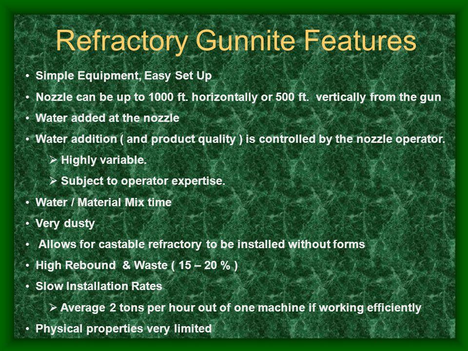 Refractory Gunnite Features