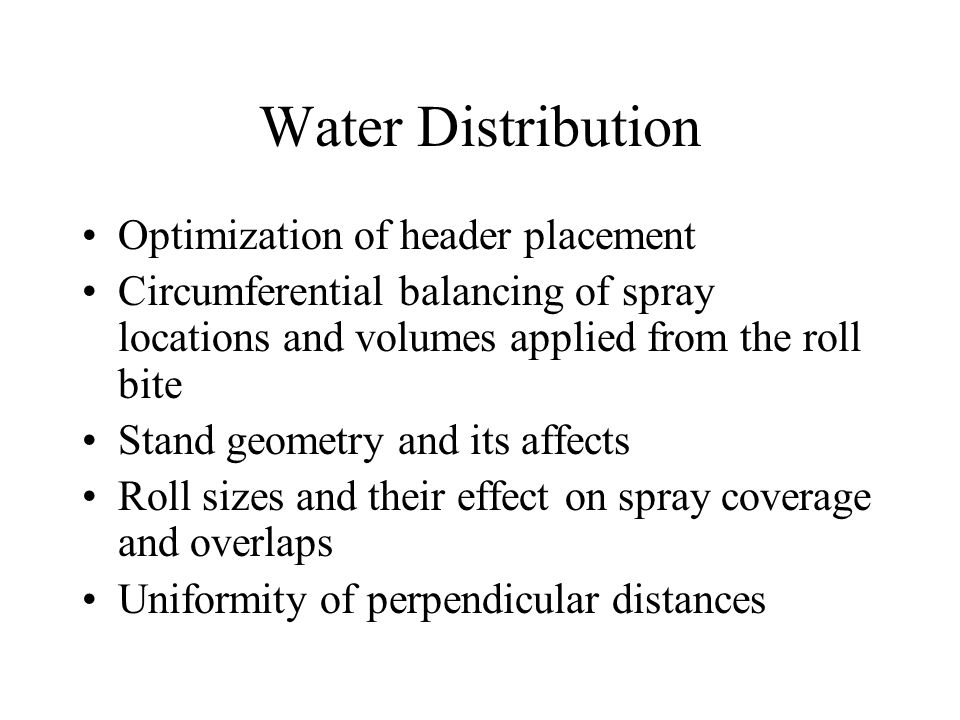Water Distribution Optimization of header placement