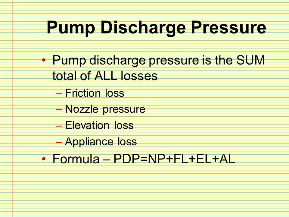 Pump Discharge Pressure