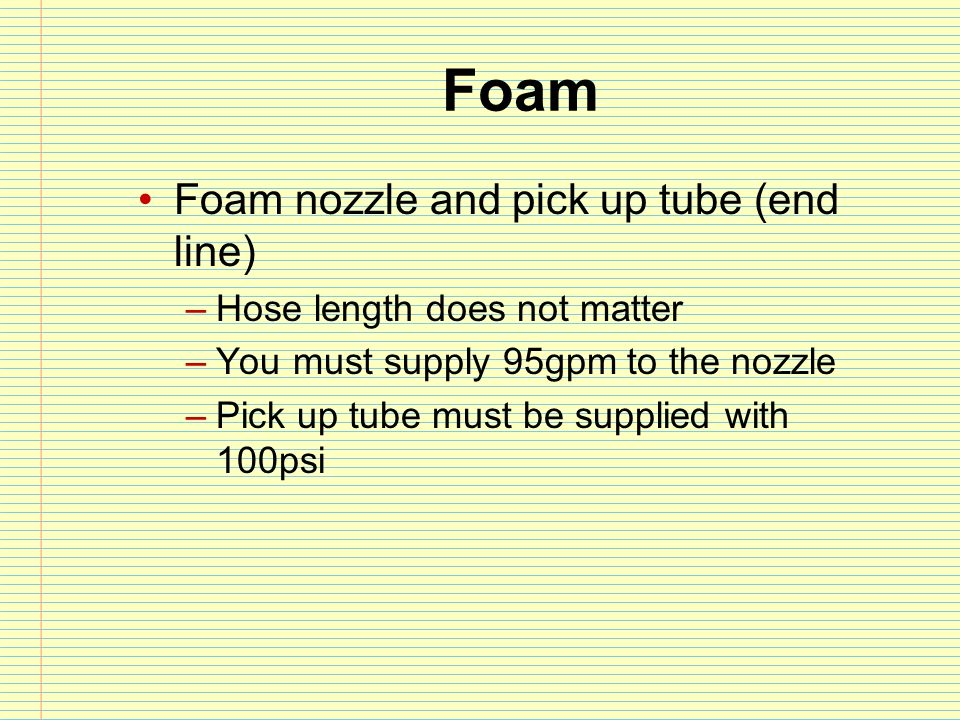 Foam Foam nozzle and pick up tube (end line)