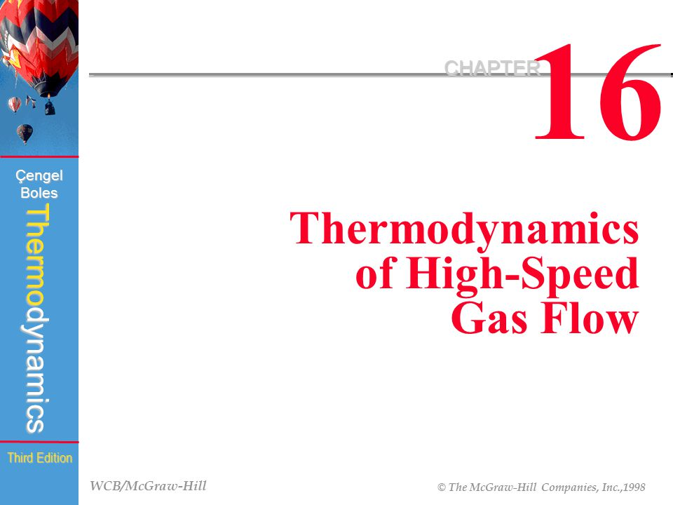 16 CHAPTER Thermodynamics of High-Speed Gas Flow