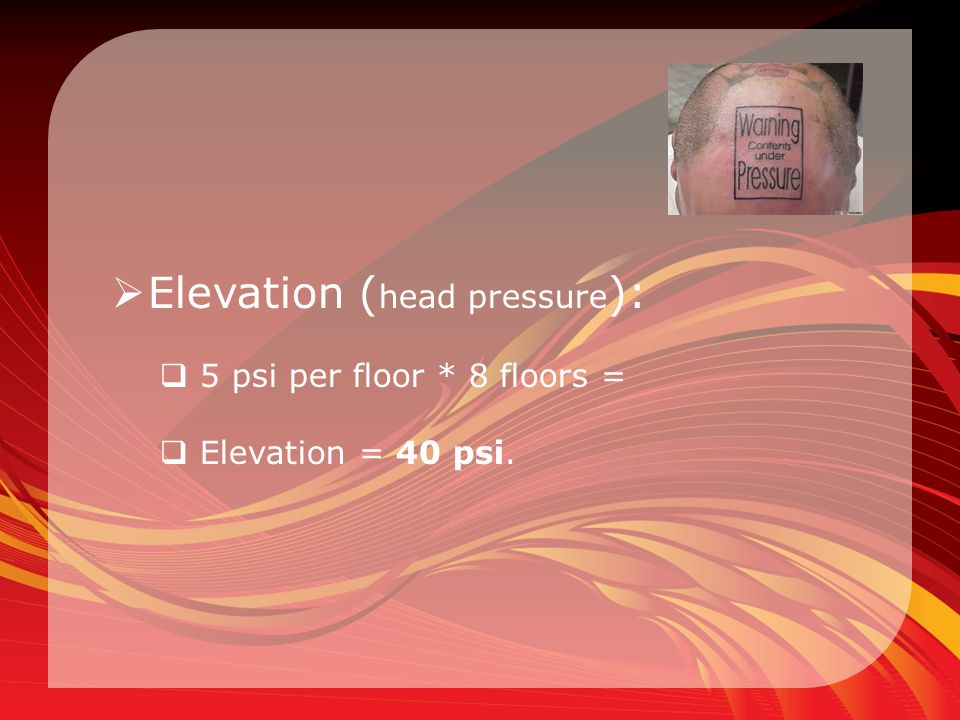 Elevation (head pressure):