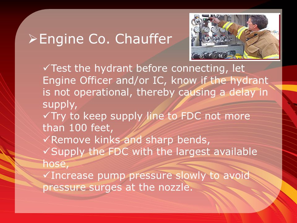 Engine Co. Chauffer