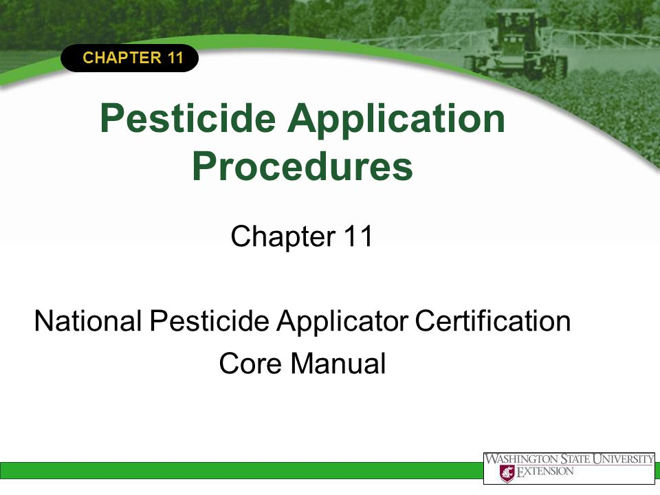 Pesticide Application Procedures