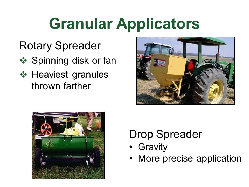Granular Applicators Rotary Spreader Drop Spreader