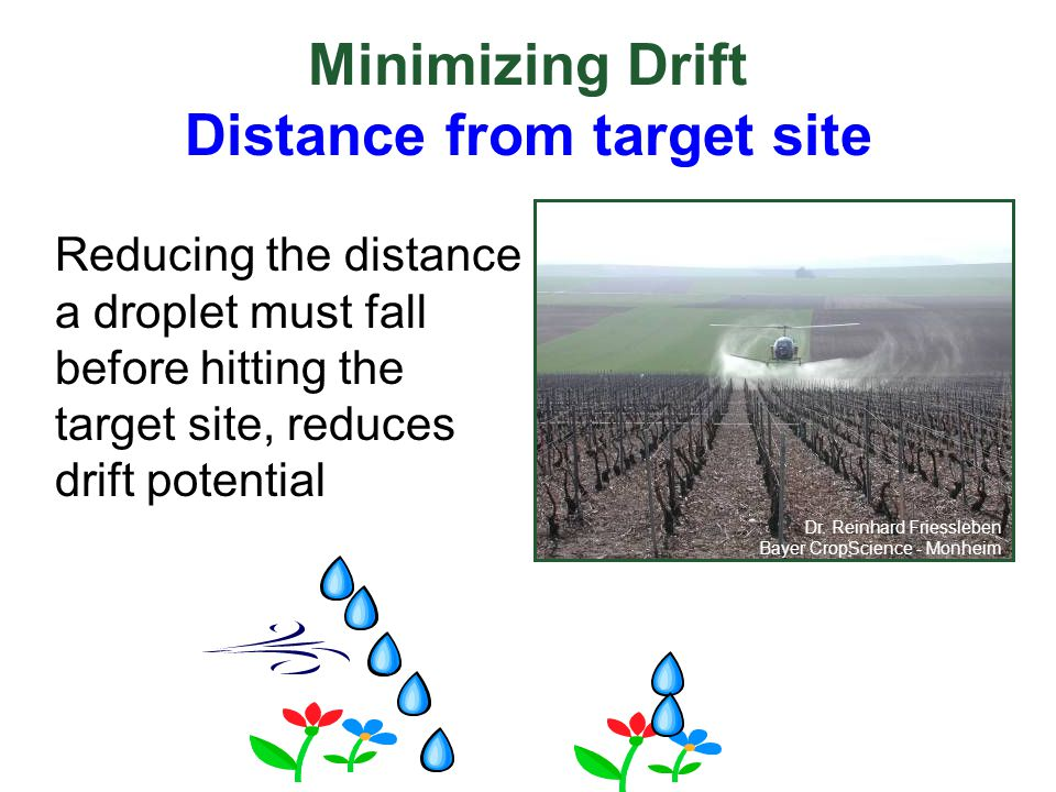 Minimizing Drift Distance from target site