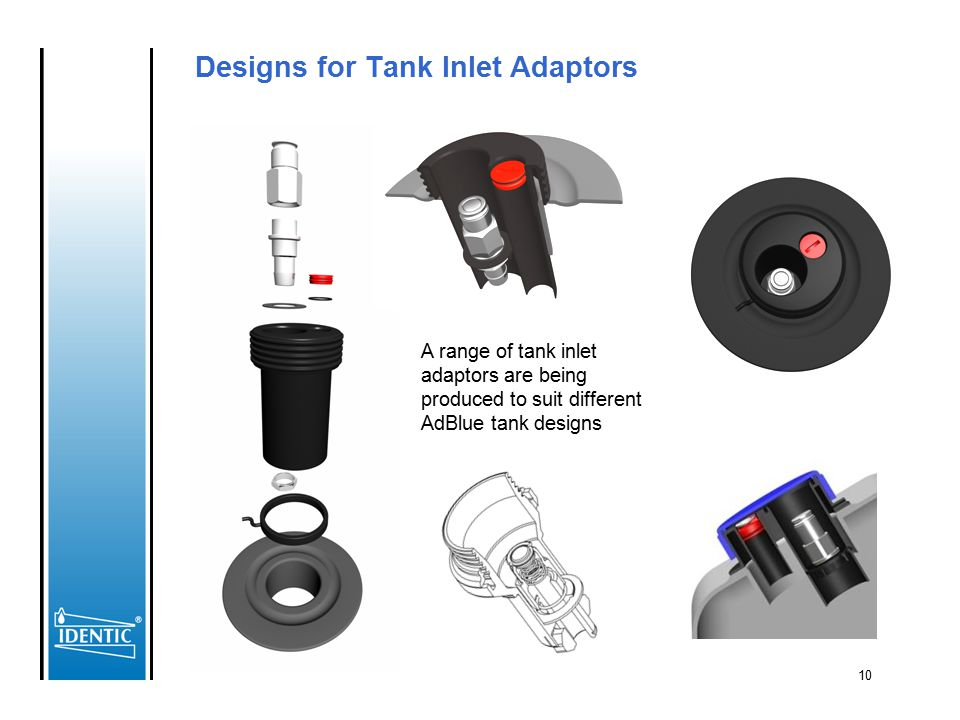 Designs for Tank Inlet Adaptors