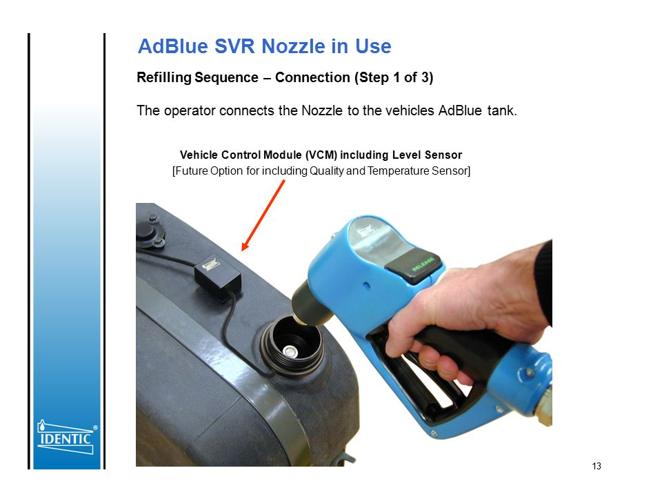 AdBlue SVR Nozzle in Use