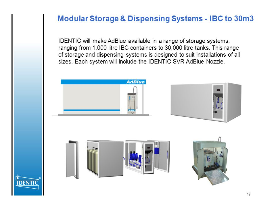 Modular Storage & Dispensing Systems - IBC to 30m3