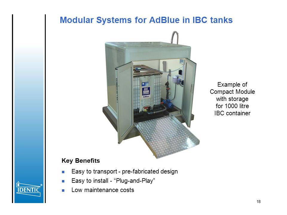 Modular Systems for AdBlue in IBC tanks