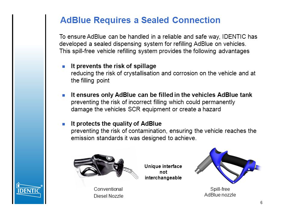 AdBlue Requires a Sealed Connection