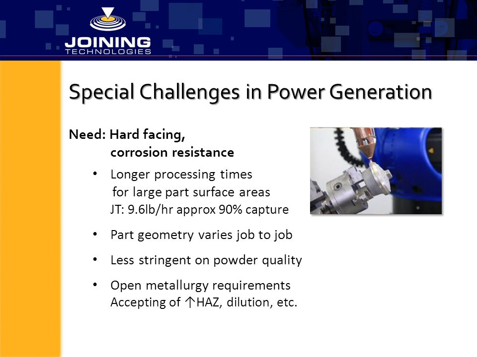Special Challenges in Power Generation