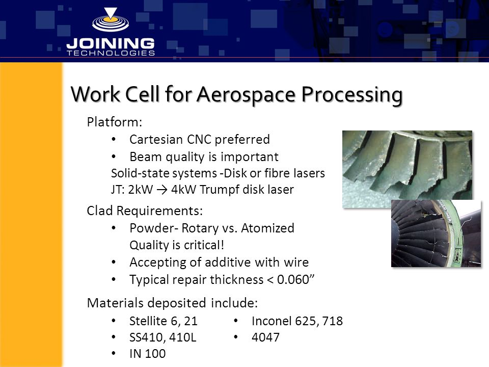 Work Cell for Aerospace Processing
