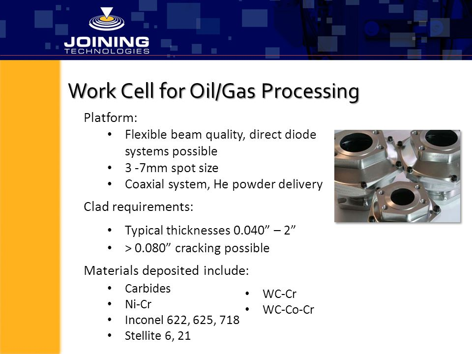 Work Cell for Oil/Gas Processing