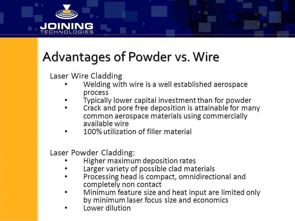 Advantages of Powder vs. Wire