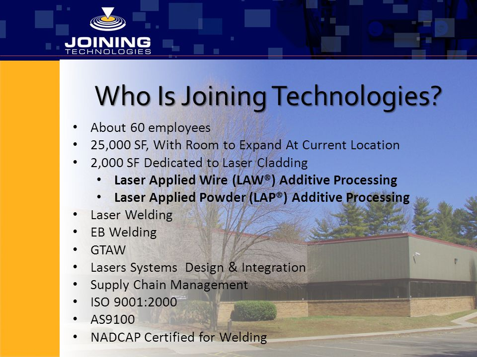 Who Is Joining Technologies