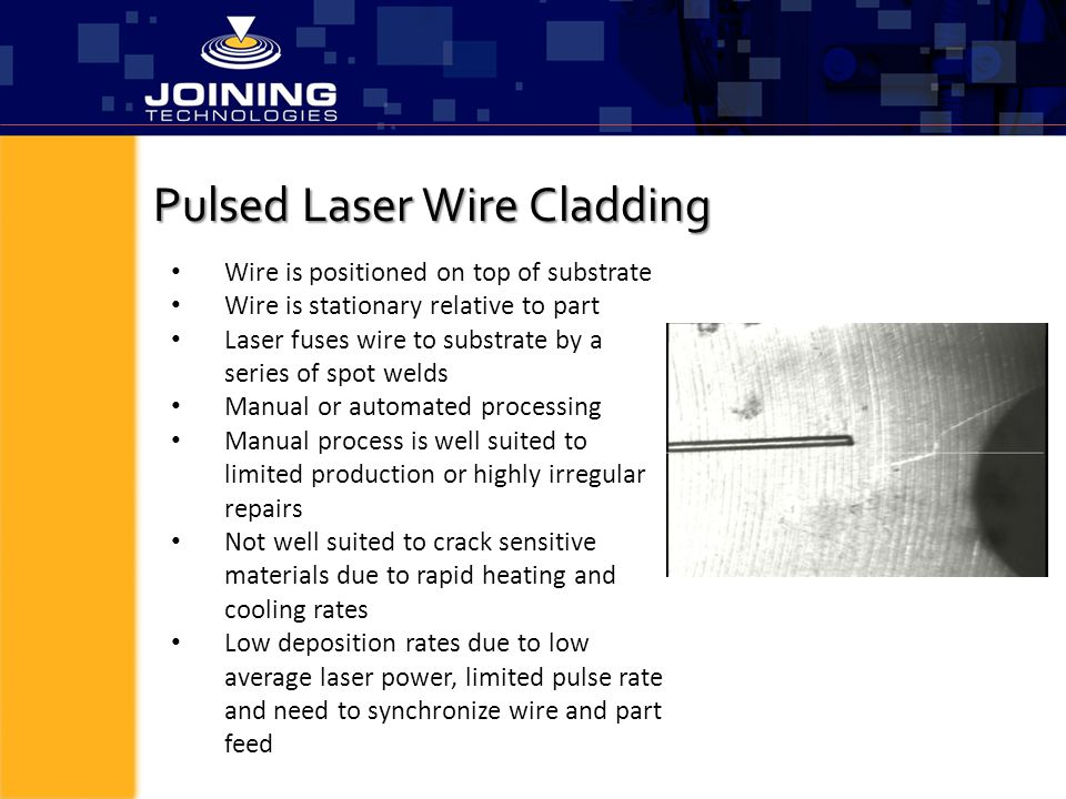 Pulsed Laser Wire Cladding