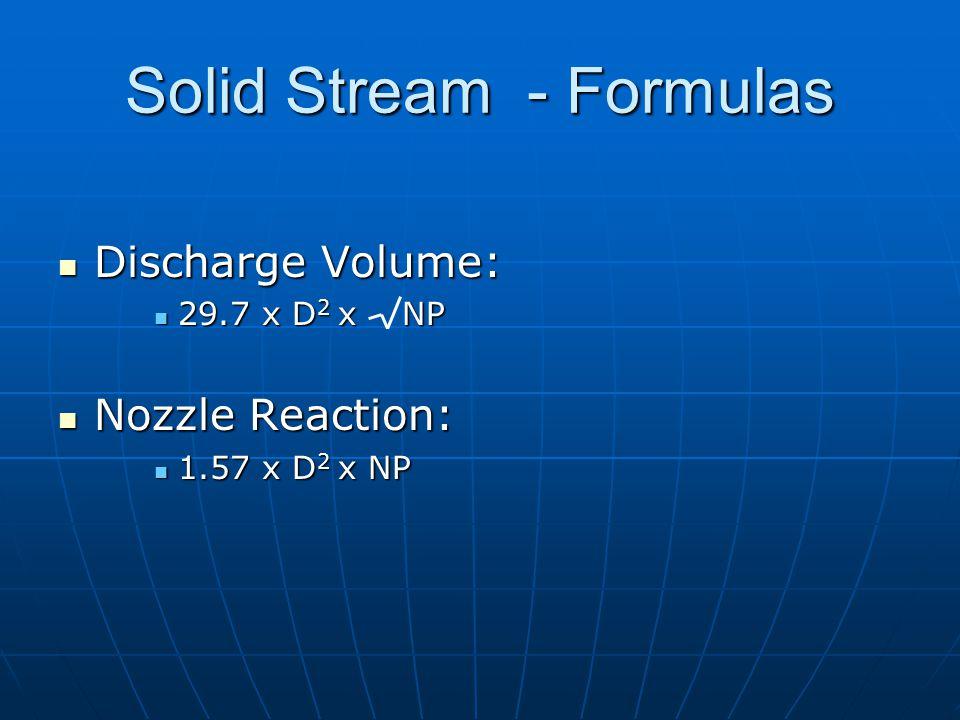 Solid Stream - Formulas
