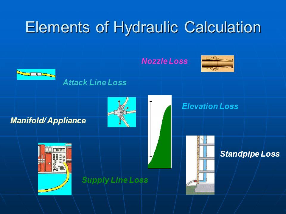 Elements of Hydraulic Calculation