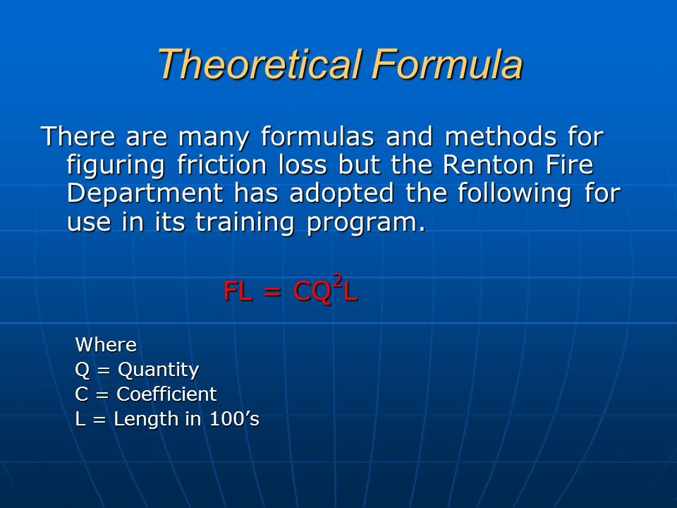 Theoretical Formula