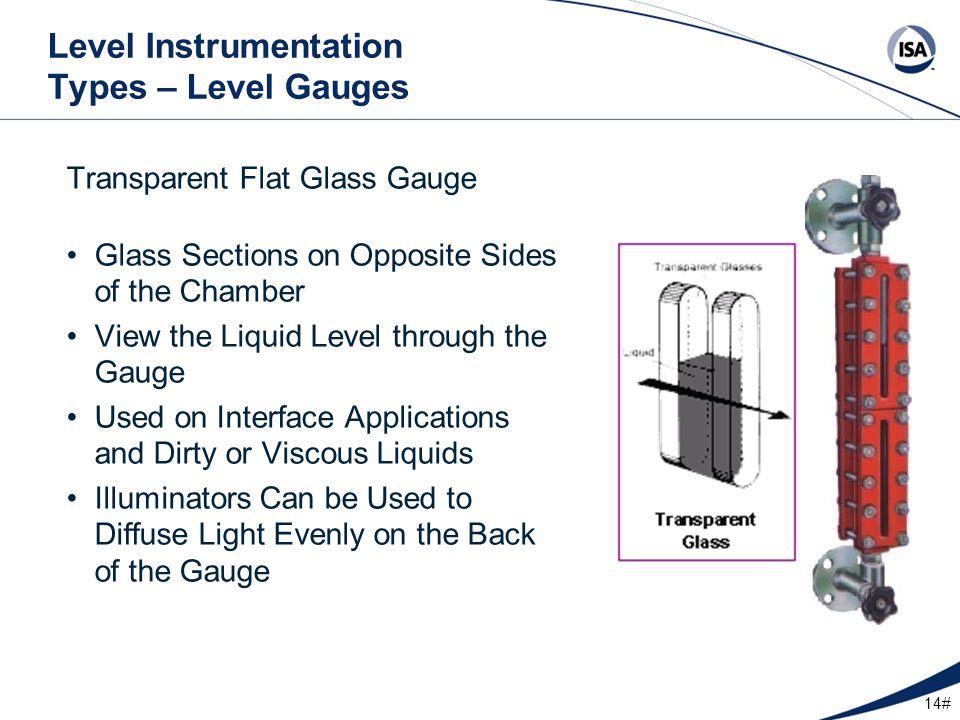 Level Instrumentation Types – Level Gauges