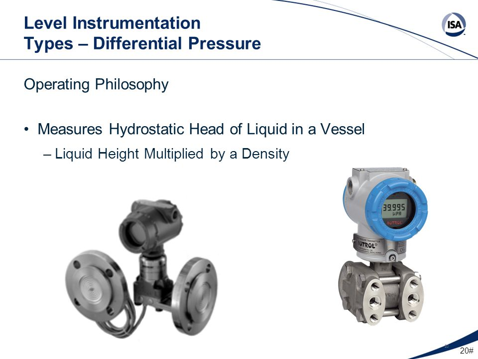 Level Instrumentation Types – Differential Pressure