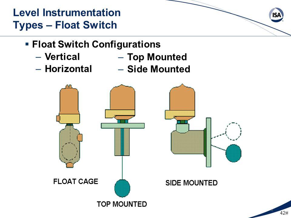 Level Instrumentation Types – Float Switch
