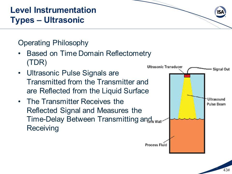 Level Instrumentation Types – Ultrasonic