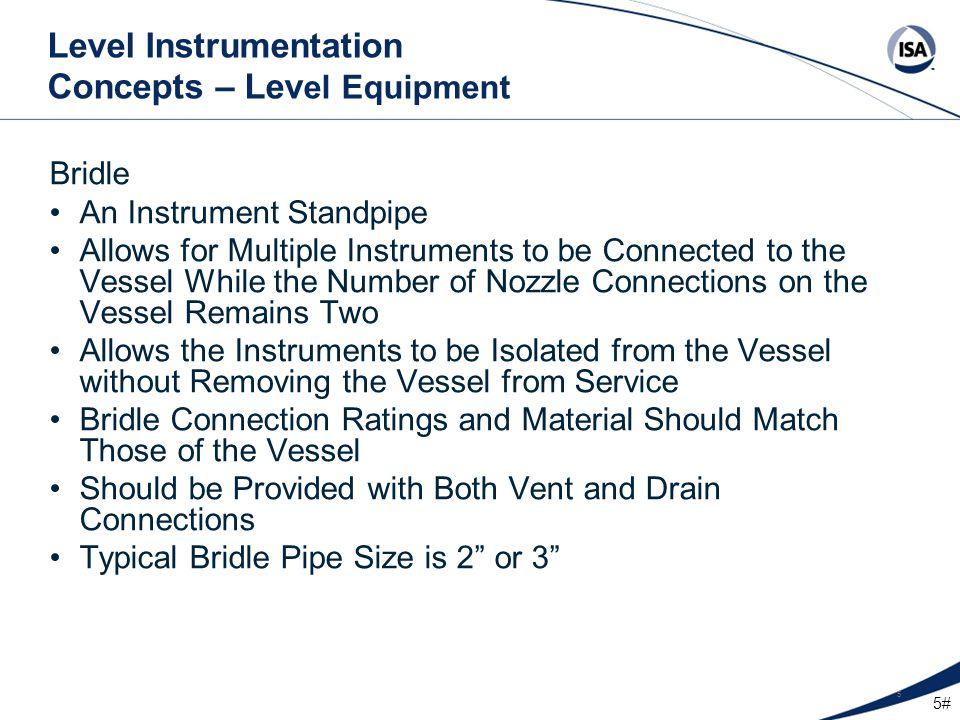 Level Instrumentation Concepts – Level Equipment