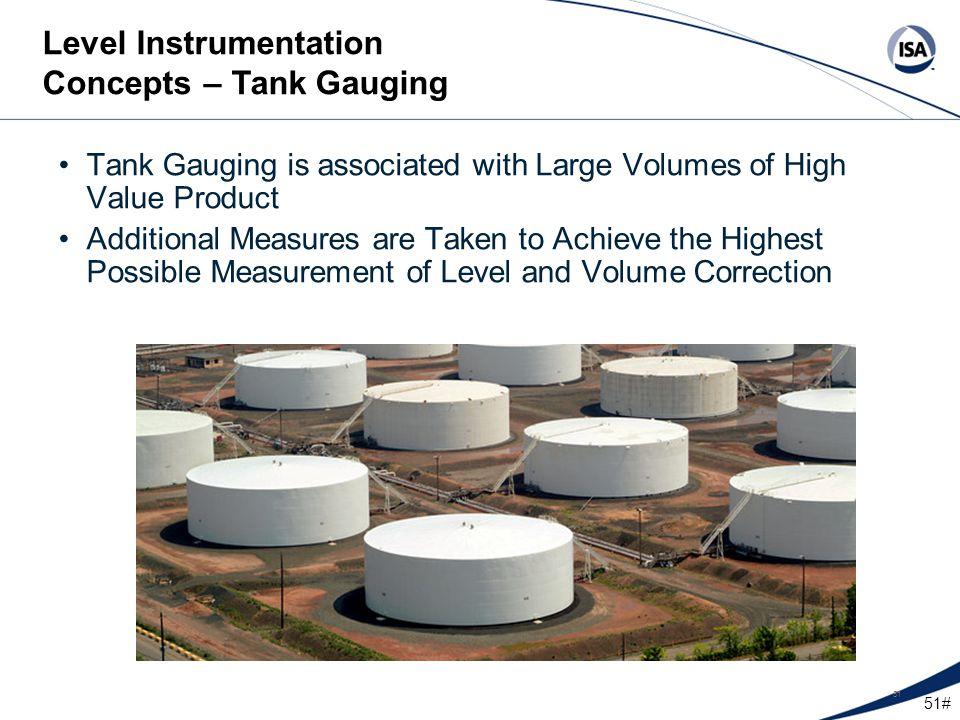 Level Instrumentation Concepts – Tank Gauging