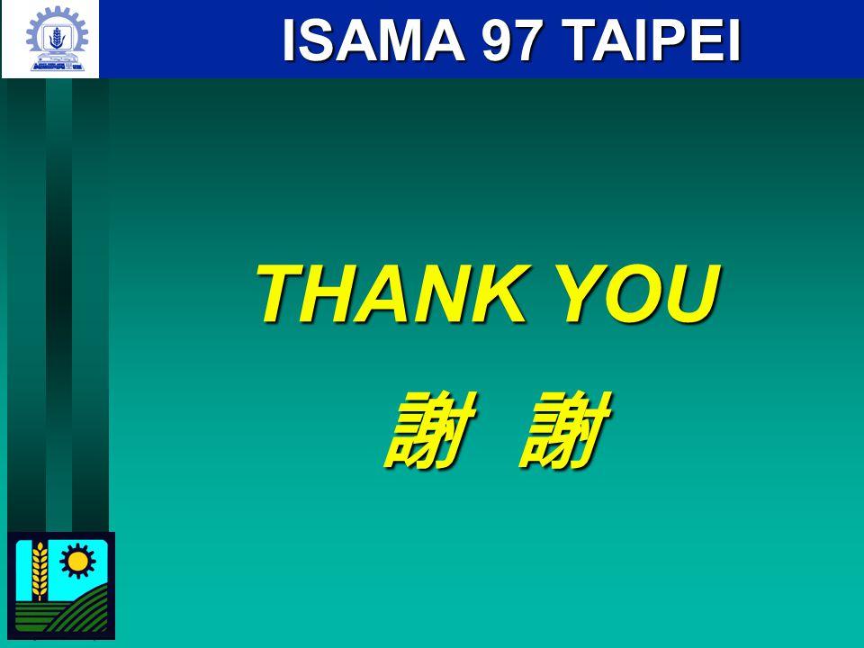ISAMA 97 TAIPEI THANK YOU 謝 謝