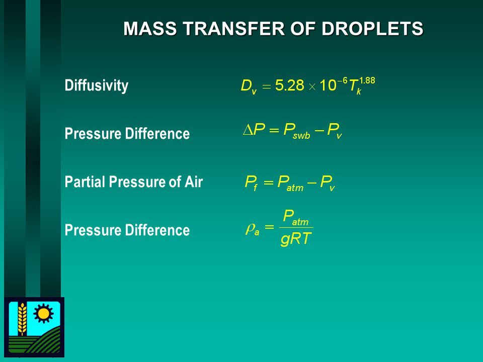 MASS TRANSFER OF DROPLETS