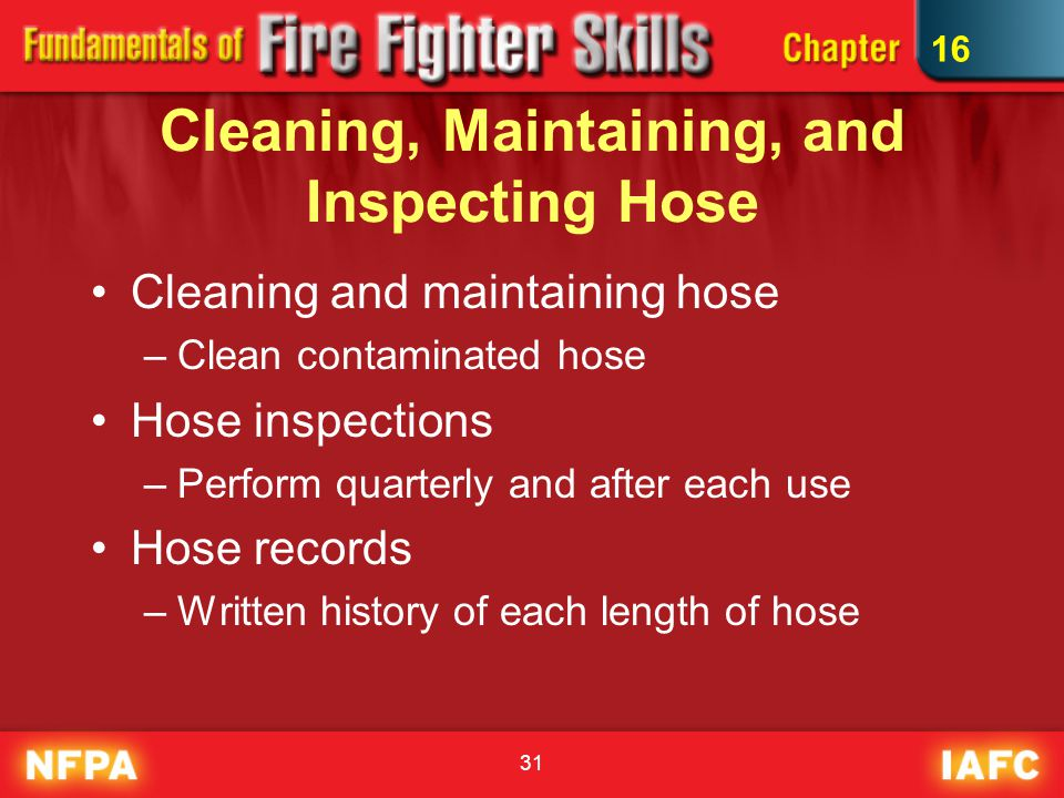 Cleaning, Maintaining, and Inspecting Hose