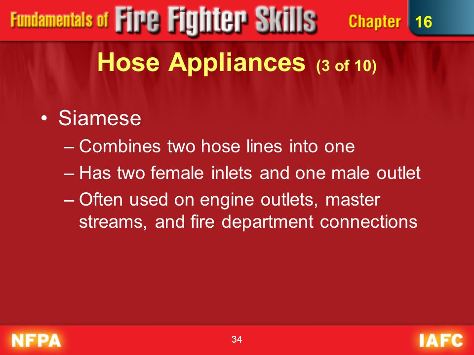 Hose Appliances (3 of 10) Siamese Combines two hose lines into one