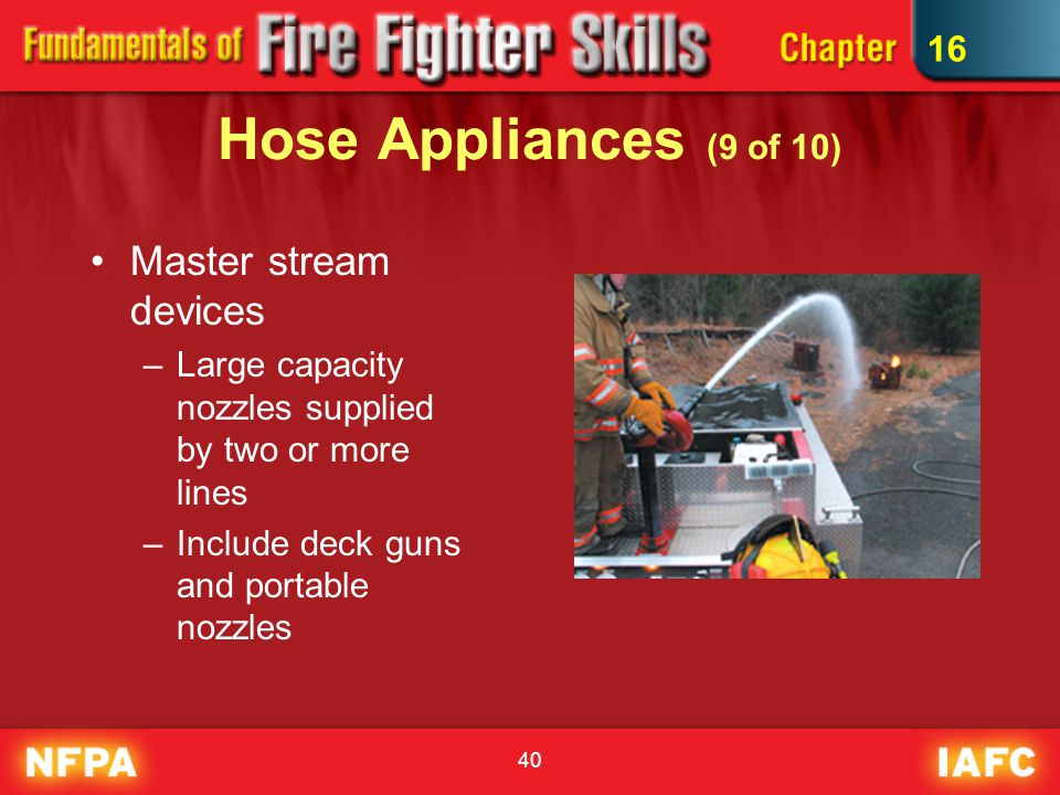 Hose Appliances (9 of 10) Master stream devices 16