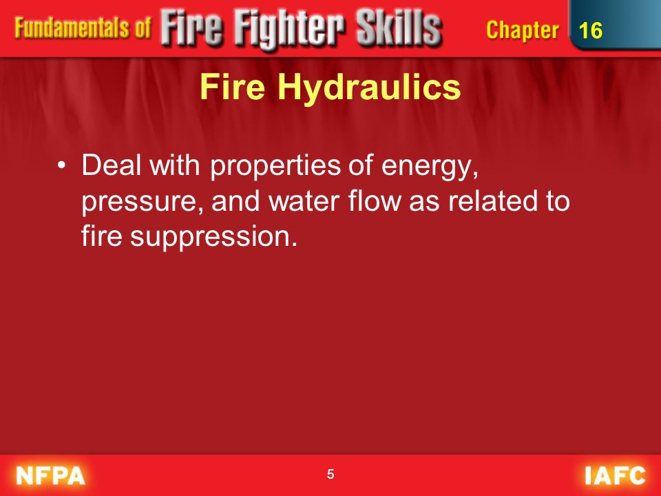 16 Fire Hydraulics.