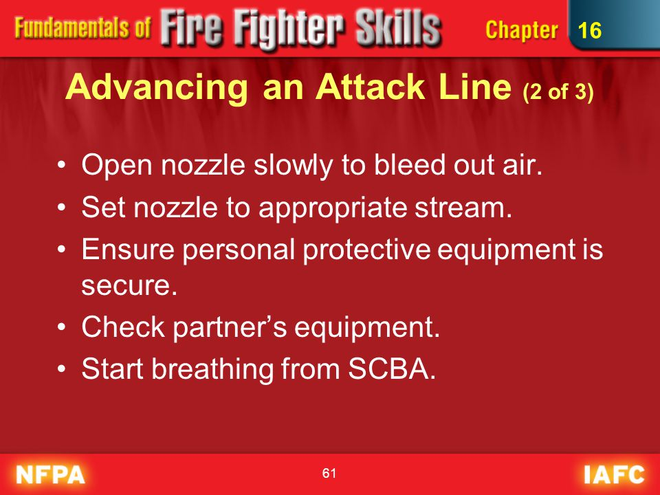 Advancing an Attack Line (2 of 3)