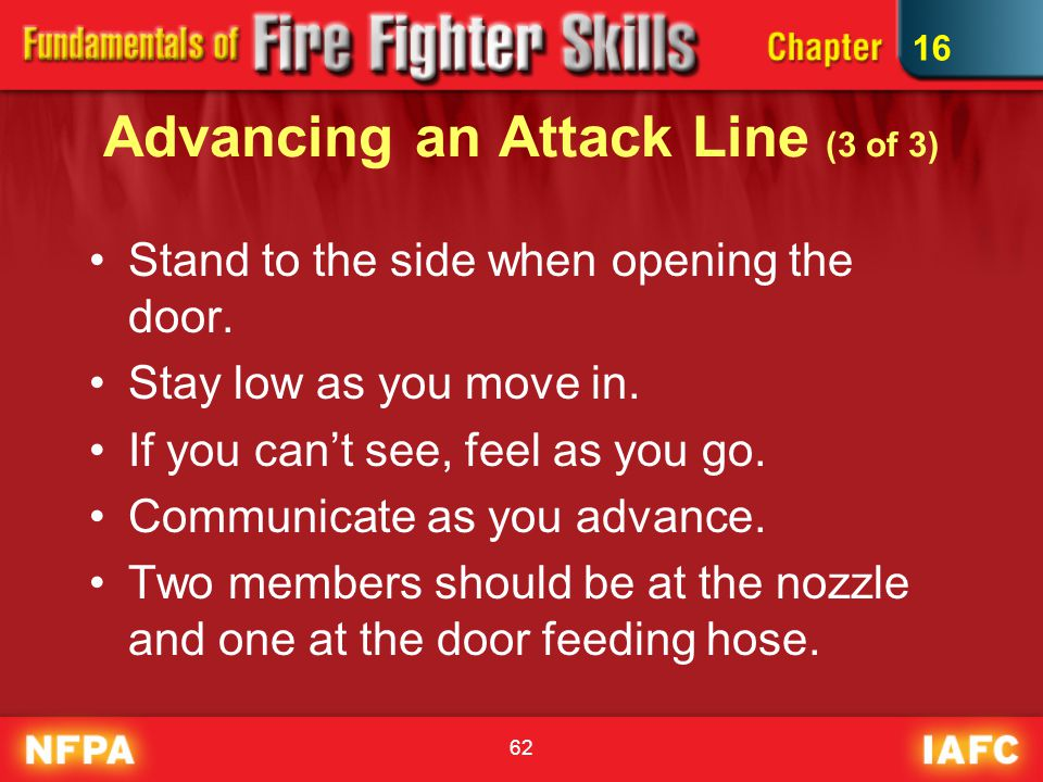 Advancing an Attack Line (3 of 3)