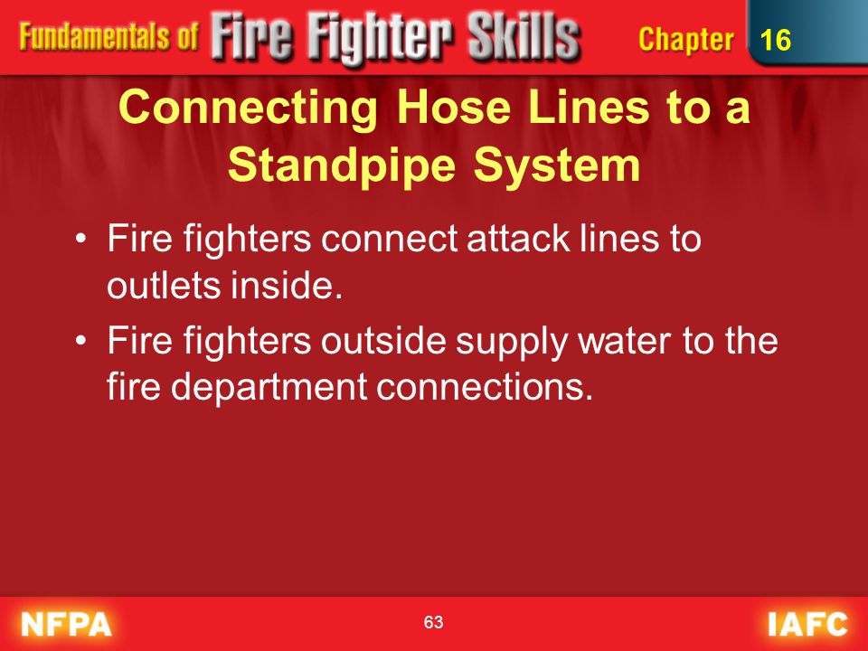 Connecting Hose Lines to a Standpipe System