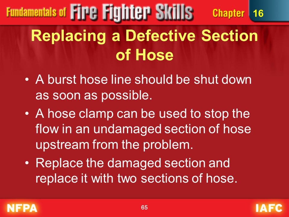 Replacing a Defective Section of Hose