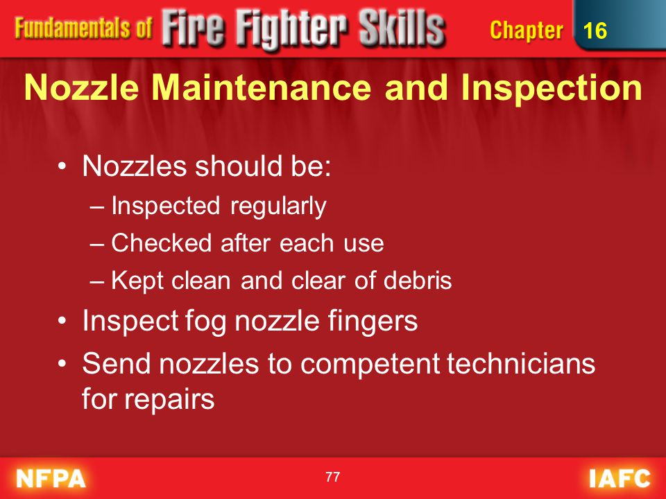 Nozzle Maintenance and Inspection