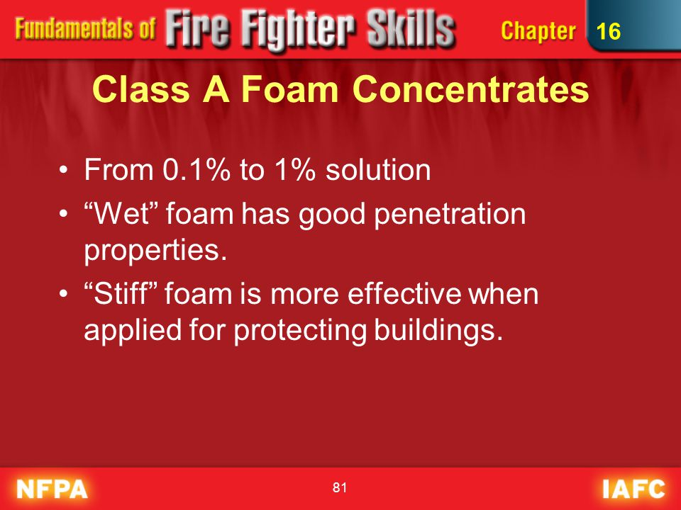 Class A Foam Concentrates