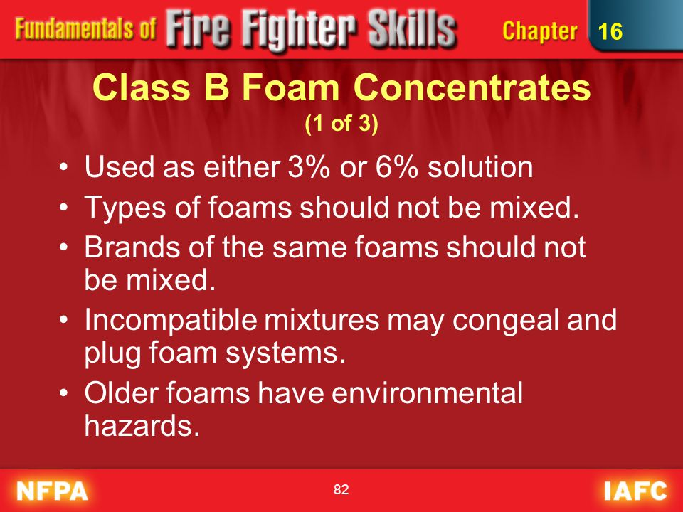 Class B Foam Concentrates (1 of 3)