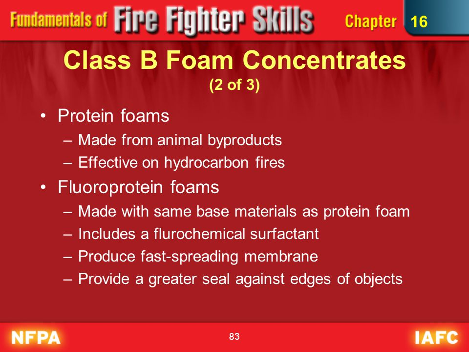 Class B Foam Concentrates (2 of 3)
