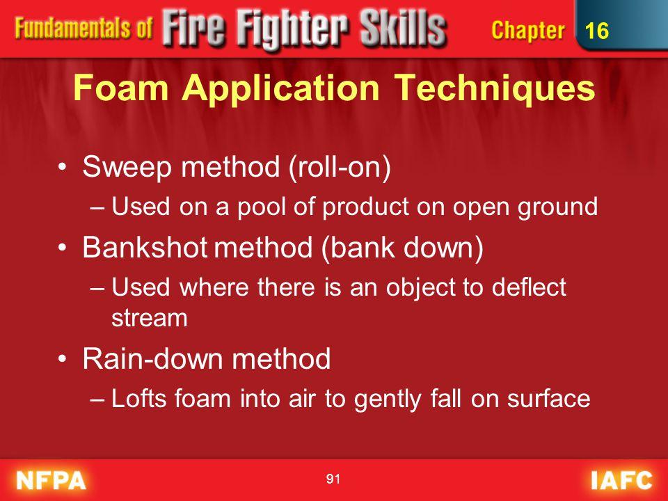 Foam Application Techniques