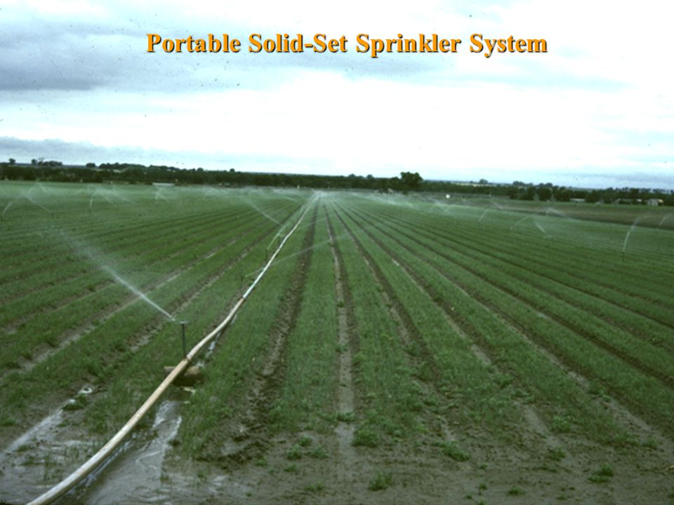 Portable Solid-Set Sprinkler System