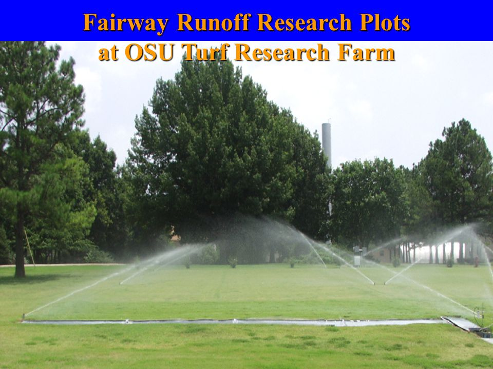 Fairway Runoff Research Plots at OSU Turf Research Farm
